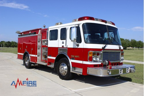 AM 18301 2004 AMERICAN LA FRANCE FIRE TRUCK RESCUE PUMPER