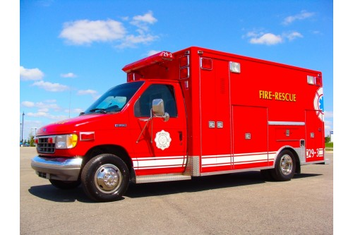 1995 AMBULANCE FORD E-450 TYPE III