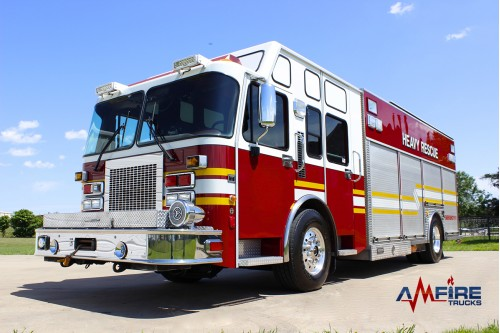 AM 20302 2000 Spartan Rescue Fire Truck With Saulsbury Body