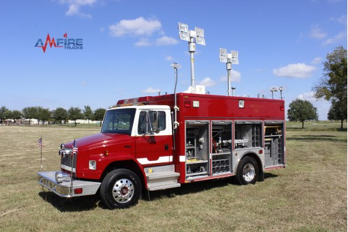 AM-16304 2001 Pierce FL70 Light and Air Emergency Rescue Unit